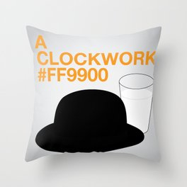 A Clockwork #FF9900 Throw Pillow
