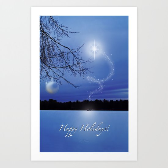 Christmas Eve - Card Art Print