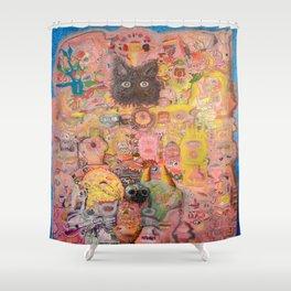 Pink Nightmare Shower Curtain
