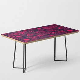 N31 - Lovely Colored Blue & Pink Moroccan Followers Texture Style. Coffee Table