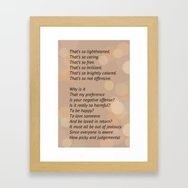 """""""That's So"""" By: Emma Conway Framed Art Print"""