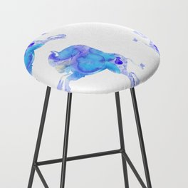 on the horizon blue buffalos Bar Stool