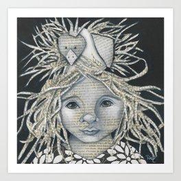 Girl Bird Forest Nymph  Art Print