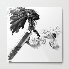 Berserk Guts & Casca Metal Print