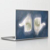 kim sy ok Laptop & iPad Skins featuring ok by rino pacilio