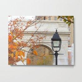 Fall in Washington Square Park, NYC Metal Print