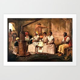 """Classical Masterpiece: Eyre Crowe's """"Slaves Waiting for Sale"""" (1861) Art Print"""