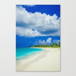 Tropical Island Sandy Beach Canvas Print
