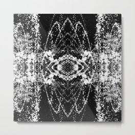Abstract Black and White Water 1085 Metal Print