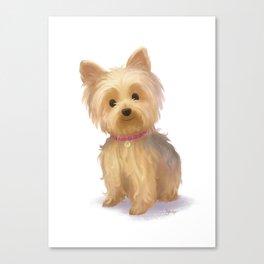 Yorkie Dog Canvas Print