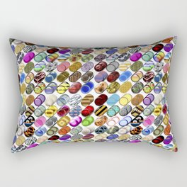 Cylinder shapes with random colors II Rectangular Pillow