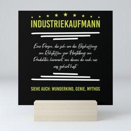 Definition Industrial Clerk Genius Child Prodigy Mini Art Print