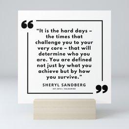 16   | Sheryl Sandberg Quotes | 190902 Mini Art Print
