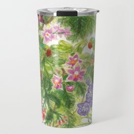 Birds and Orchids Tropical Rainforest II Travel Mug