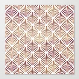 Rose-gold geometric art-deco pattern Canvas Print
