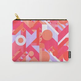 GEOMETRY SHAPES PATTERN PRINT (WARM RED LAVENDER COLOR SCHEME) Carry-All Pouch
