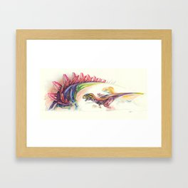 Steakosaurus, I apologize. Framed Art Print
