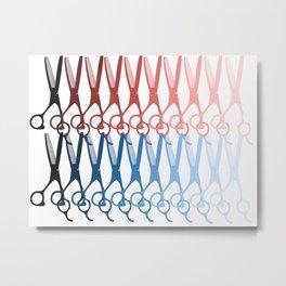 Scissors palette Metal Print