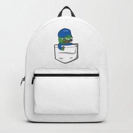 Apu Apustaja tee pocket blue hat BE PATIENT PepeTheFrog Backpack