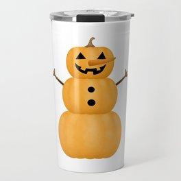 Pumpkin Snowman Travel Mug
