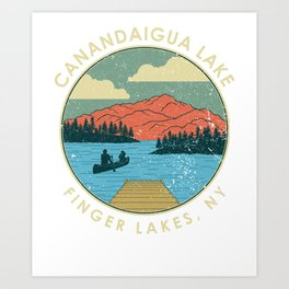 Finger Lakes NY New York Canandaigua Lake print Art Print