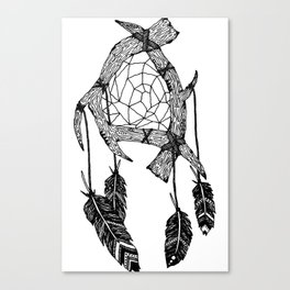 Twig Dreamcatcher Print Canvas Print