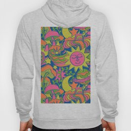 Psychedelic Daydream in Neon + Blue Hoody