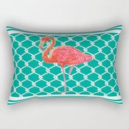Flamingo Flare- Coastal Home Decor Rectangular Pillow