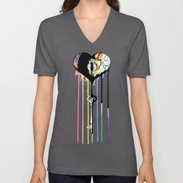 Rainbow Heartbleed Unisex V-Neck