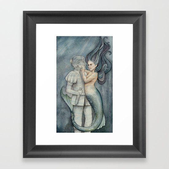 The Mermaid and her Prince Framed Art Print