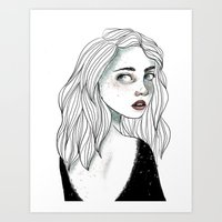 The Backless Dress Art Print