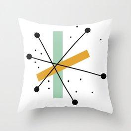 Retro Minimalist Mid Century Modern Pattern Design Throw Pillow