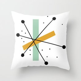 Retro Minimalist Mid Century Modern Pattern Design Throw Pillow