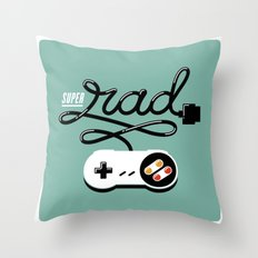 Super Rad Throw Pillow
