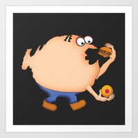 my mad fat diary Art Prints featuring Fat Nation by Steve Bonello