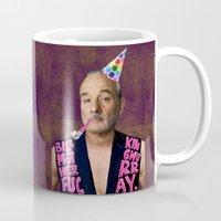 bill murray Mugs featuring Bill Motherfucking Murray by Emmalene Blake