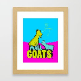 Mall Goats Framed Art Print
