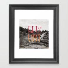 Get Lost x Yellowstone II Framed Art Print