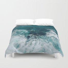 Ocean Waves (Teal) Duvet Cover