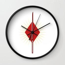 Ace of Diamonds - Masamune blade Wall Clock