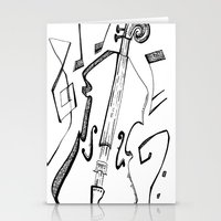 cello Stationery Cards featuring Dancing Cello by Ashley Grebe