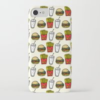 junk food iPhone & iPod Cases featuring Junk Food Pattern by mebz art