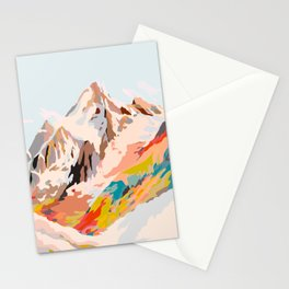 glass mountains Stationery Cards