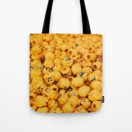 legos heads Tote Bag
