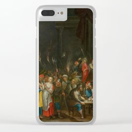FRANCKEN, HIERONYMUS III (1611 Antwerp after 1661) Christ before Annas and the denial of Saint Peter Clear iPhone Case