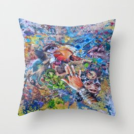 Astral Projection Throw Pillow