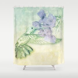 Hummingbird Kisses Shower Curtain