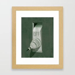 Government Shutdown Framed Art Print