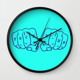 Fuck U Up Wall Clock