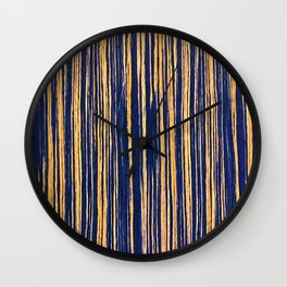 Vertical Scratches on Royal Purple Metal Texture Wall Clock